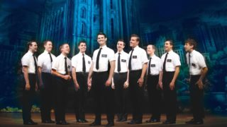 The cast of the Australian production of The Book of Mormon, which opens in Melbourne on February 4.