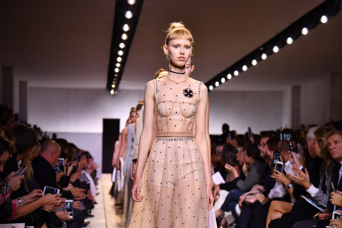 How Dior presented the sheer trend on the runway. Photo: Getty