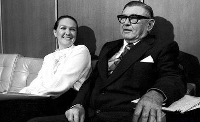 Gine Rinehart and father Lang Hancock