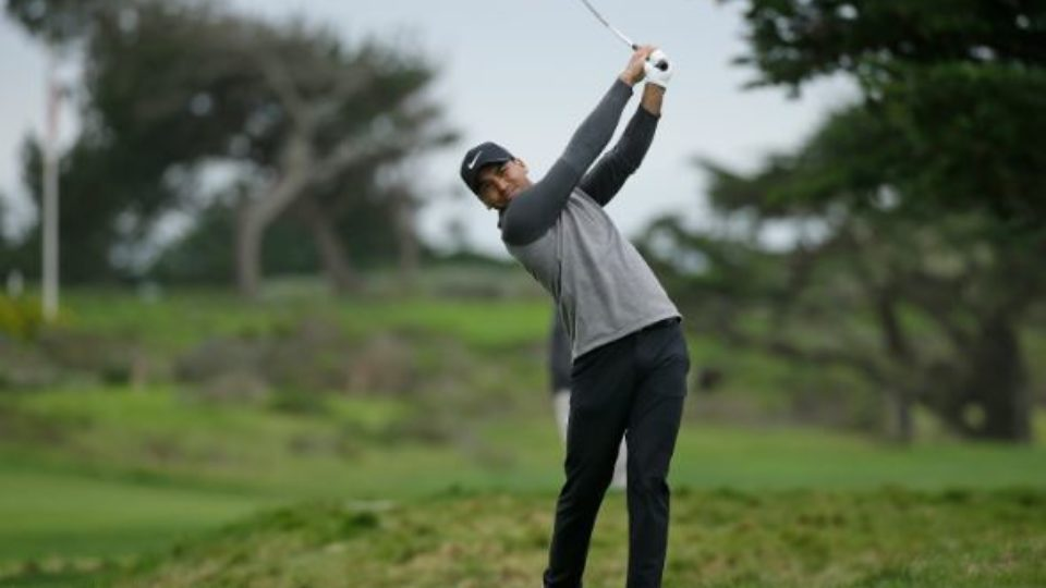Australia's Jason Day slipped down the leaderboard at the Pebble Beach Pro-Am.