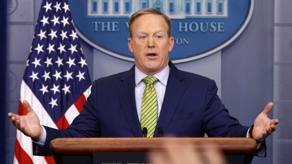 Sean Spicer says Donald Trump's statements on the whereabouts of the ...