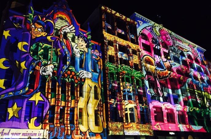 Melbourne CBD's glows and sparkles with projected artwork and lightshows at the fifth annual White Night carnival.
