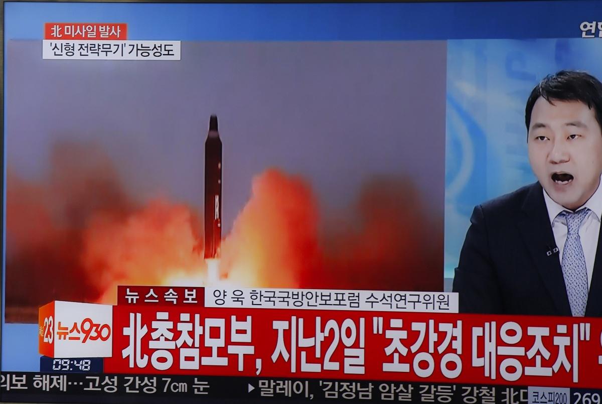 North korea misile test