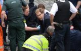 British MP Tobias Ellwood tries to revive a stabbed policeman.