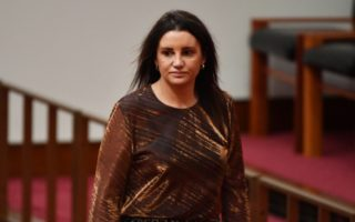 Senator Jacqui Lambie had a teary outburst during a debate about welfare cuts.