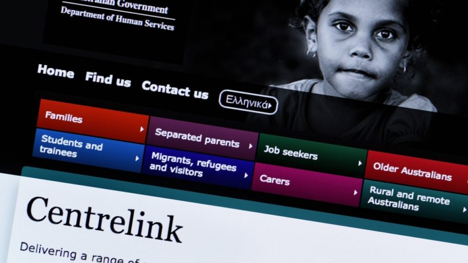 centrelink web page