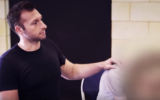 Host Ian Thorpe comforts one of the children involved in the series.