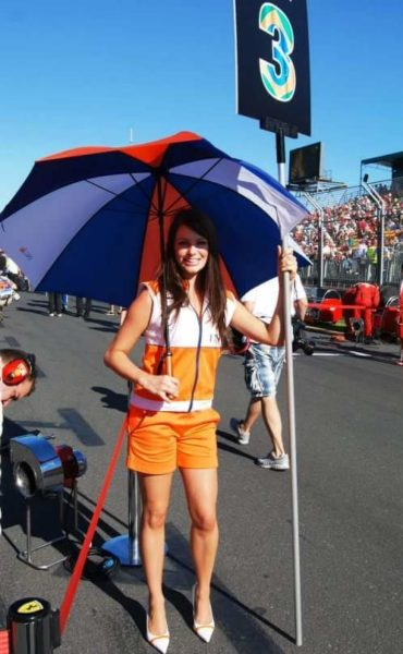 Melbourne grid girl Chloe Cameron said it is not the first time the outfits at the Grand Prix had included shorts.