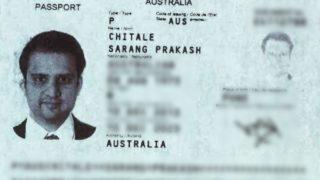 Fake passport used by Shyam Acharya