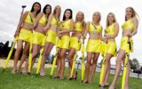 Grid girls, pictured 2002, have attracted controversy in recent years.