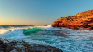Kalbarri waves Western Australia coast