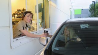 Fast food chains are increasingly moving towards establishing drive-thru services.