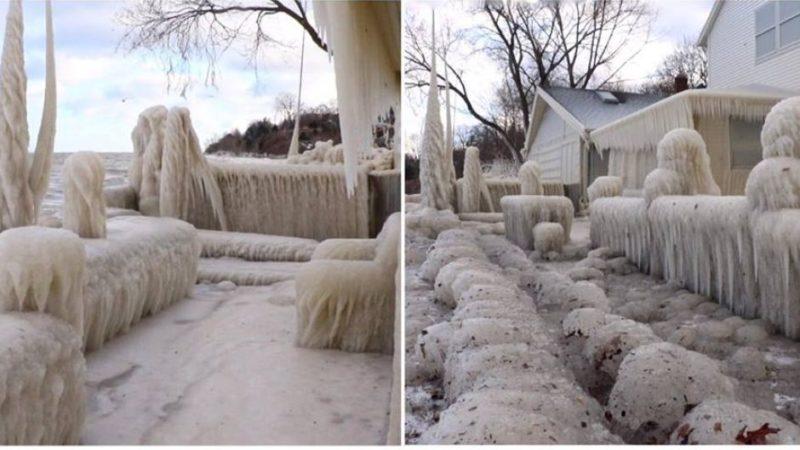 Ice House on Lake Ontario