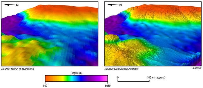 MH370 sea floor map