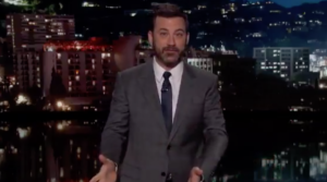 Jimmy Kimmel joked about the blunder on late night TV after hosting the Oscars. Photo: Twitter/ABC