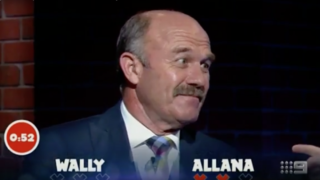Wally Lewis cracks a sexist joke on national television.