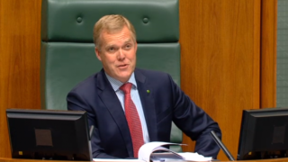 Speaker Tony Smith was stern in his rebuke of Independent MP Andrew Wilkie.