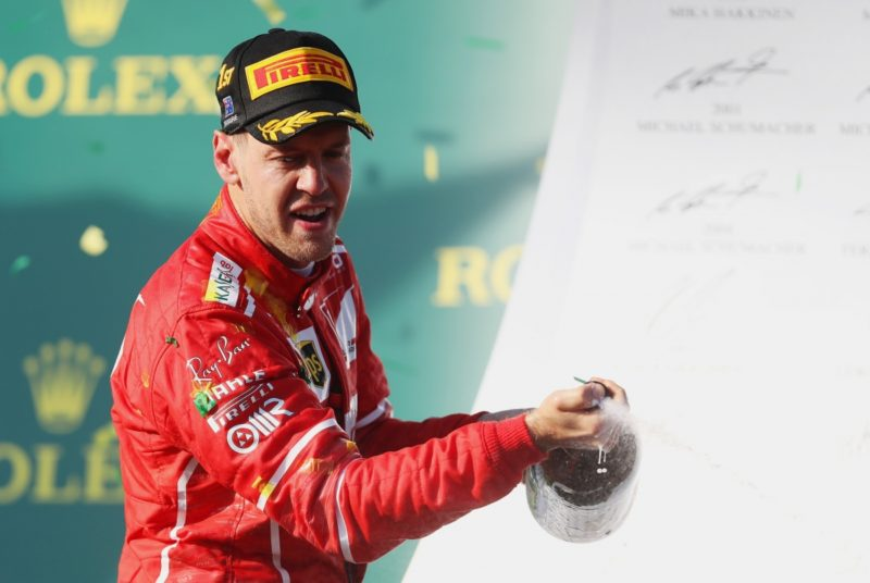 Sebastian Vettel was a clear winner in the opening race of the 2017 Formula One season.