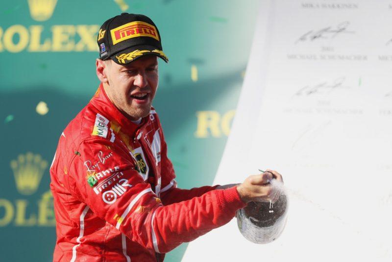 Sebastian Vettel was a clear winner in the opening race of the 2017 Formula One season.