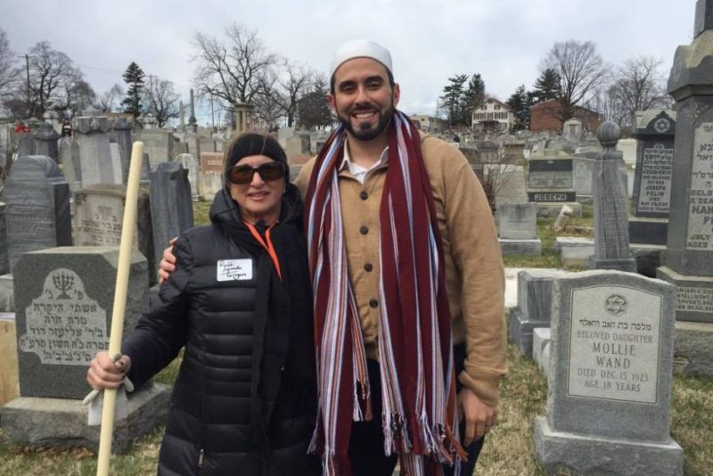 Tarek El-Messidi and Rabbi Lynda Targen
