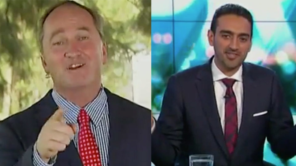 Barnaby Joyce was frustrated he hadn't been briefed on the line of questioning.