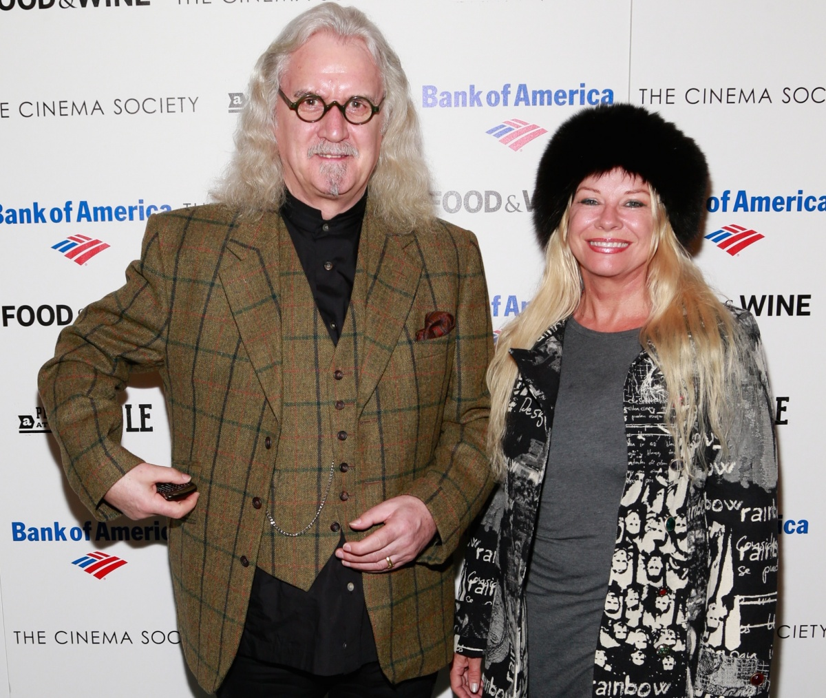 Billy Connolly and his wife, Pamela Stephenson, in February 2013. Photo: Getty