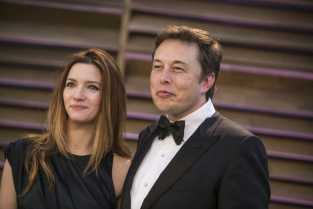 Tesla founder Elon Musk and his ex-wife, Talulah Riley.