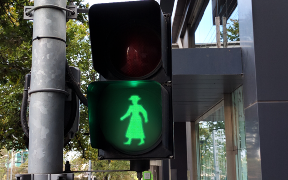 Female Traffic Lights For Crossing To Fight Unconscious Bias