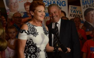 One Nation's dismal performance was nothing for supporters to smile about, but Senator Pauline Hanson still conjured a grin in Perth late last night.