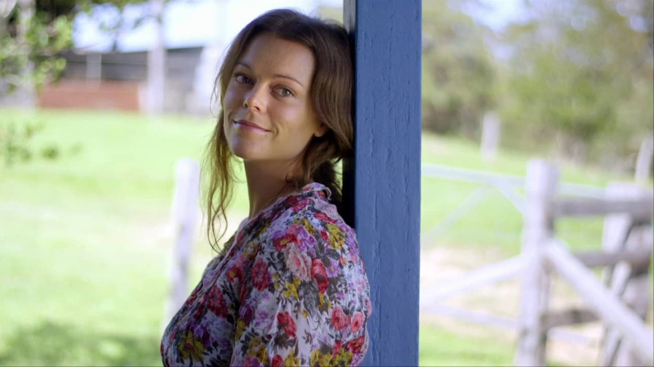 Matilda Brown in the ABC mini-series Lessons from the Grave, which she starred in alongside her father in 2013.