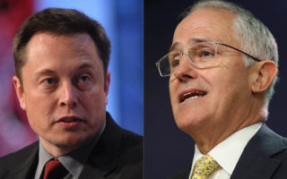 Elon Musk and Malcolm Turnbull
