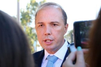 Mr Dutton singled out Qantas CEO Alan Joyce, saying he should keep his personal opinions distinct from his company platform. Photo: ABC/Nick Haggarty