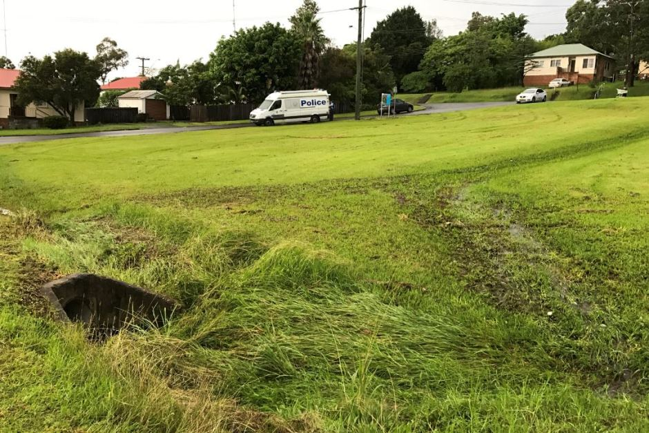 Ryan Teasdale was swept into a stormwater drain at a reserve in Unanderra. Photo: ABC