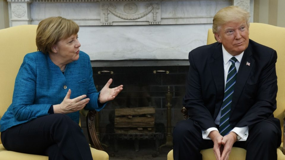 Trump Refuses to Shake Hands With Angela Merkel, and It's Very Awkward