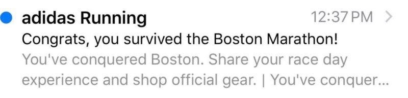 Adidas Boston marathon