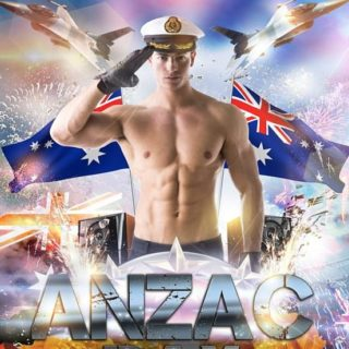 Anzac Day poster night club