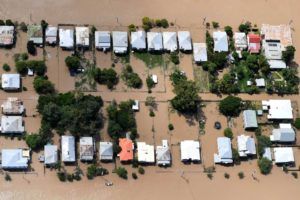 Backyards flooded in Rockhampton