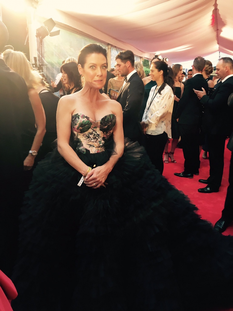 "While Coghlan said she ""loved"" her gown, social media users questioned, ""why would you wear that?""."