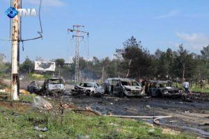 Evacuees killed in Syria bomb blast