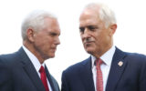 Vice-President Mike Pence met Prime Minister Malcolm Turnbull on Saturday.