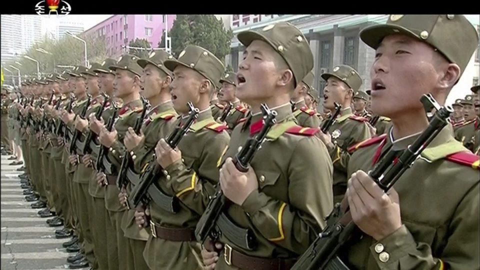 North Korea soldiers