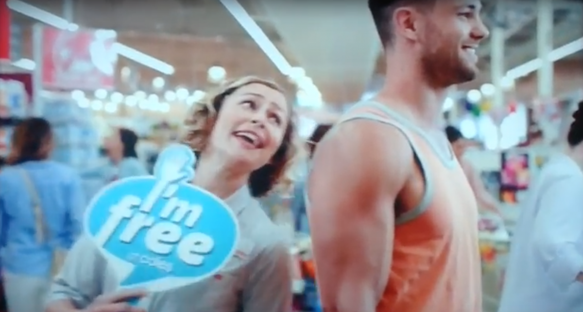 Viewers complained about the ad portraying a female staffer flirting with a male customer.
