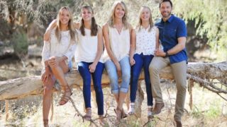 Shark attack victim Laeticia Brouwer with her family