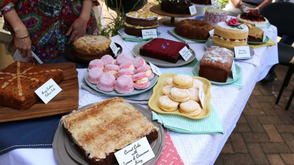 array of cakes
