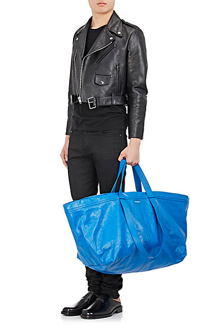 The Balenciaga Carry Shopper is made out of lambskin and crafted in Italy.