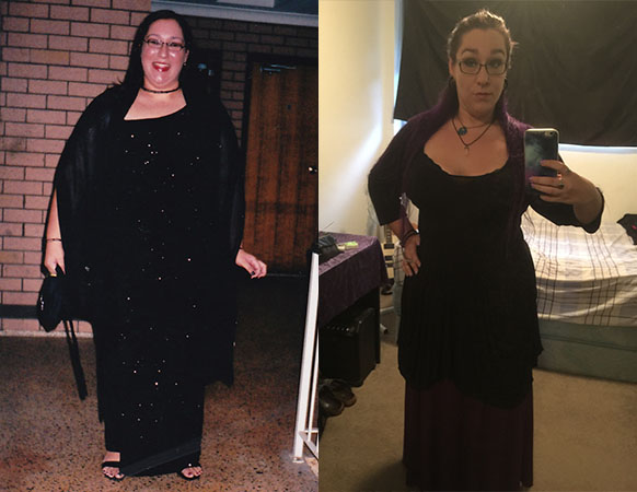 Before and after: Ms XXX's goal weight is 69kg.