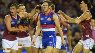 Things looked grim for Bob Murphy in his 300th game until the Bulldogs rallied for their captain and vanquished the Lions.