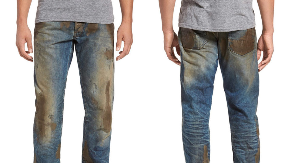 best website 1c4b0 e30ea Dirty jeans for $595. It's official – fashion's gone mad