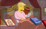 According to The Simpsons, Donald Trump's achievements in office include 700 new Twitter followers.