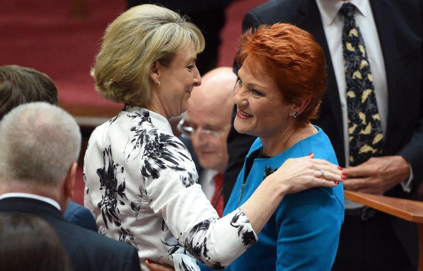 Michaelia Cash welcomes One Nation's Pauline Hanson back to federal politics.